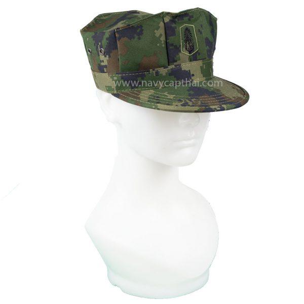 หมวกแปดเหลี่ยมพรางดิจิตอล ทร ทรงแข็ง