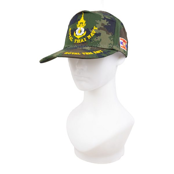 หมวกแก๊ปทหารเรือลายพราง