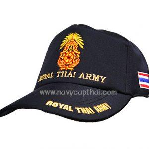 หมวกแก๊ปทหารบกสีดำ