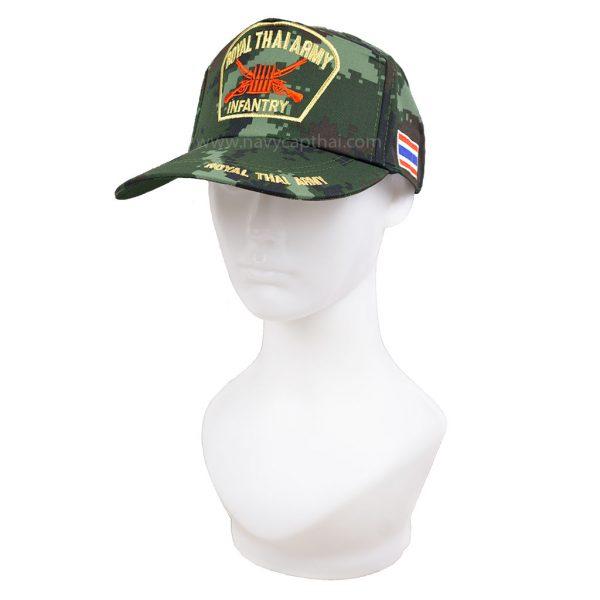 หมวกแก๊ปทหารราบลายพราง