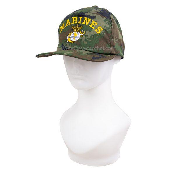 หมวกแก๊ป MARINES ลายพราง