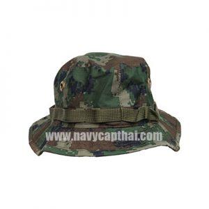 หมวกปีกรอบเล็กลายพรางทหาร