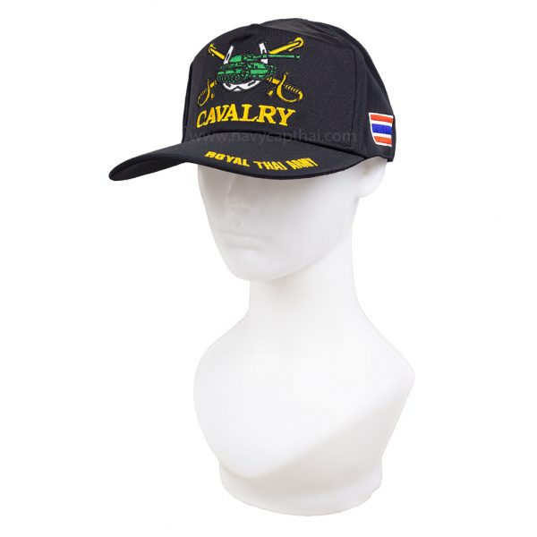 หมวกแก๊ปทหารม้าสีดำ