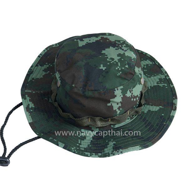 หมวกปีกรอบลายพรางดิจิตอลทหารบก