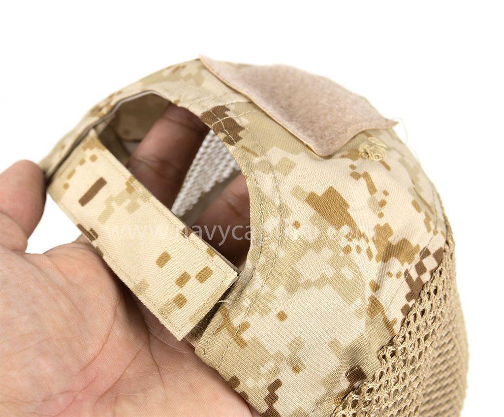 หมวกปีกรอบทหารลายพรางทะเล 2