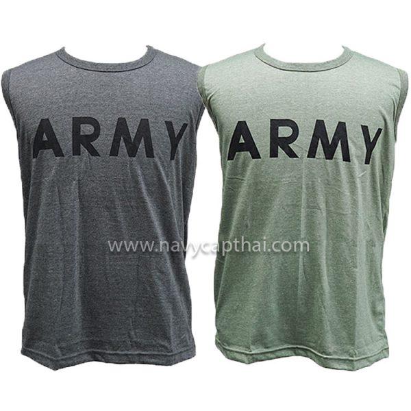 เสื้อยืด ARMY แขนกุด