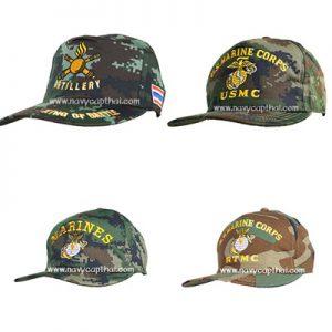 หมวกแก๊ปลายพรางทหาร