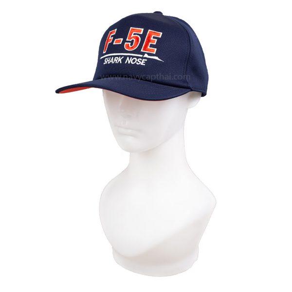 หมวกแก๊ปเครื่องบิน F 5E สีแดง