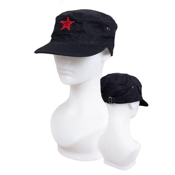 หมวกดาวแดงสีดำ
