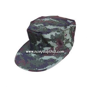 หมวกทหารทรงแปดเหลี่ยมลายพรางดิจิตอลทหารบก