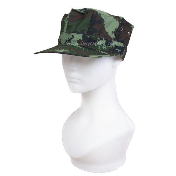 หมวกทหารทรงแปดเหลี่ยมลายพรางดิจิตอล ทบ