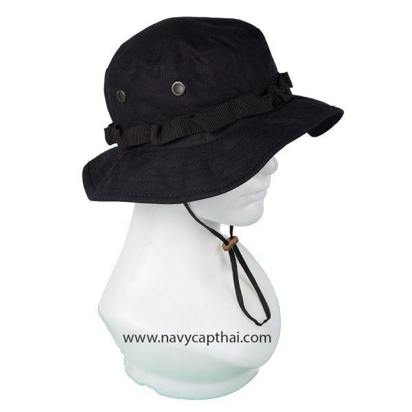หมวกปีกรอบเล็กสีดำ