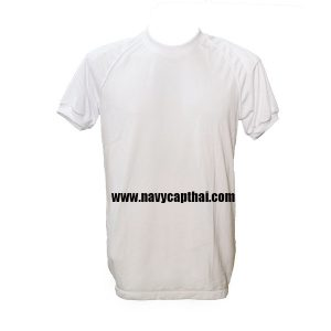 เสื้อยืดบุไหล่สีขาว