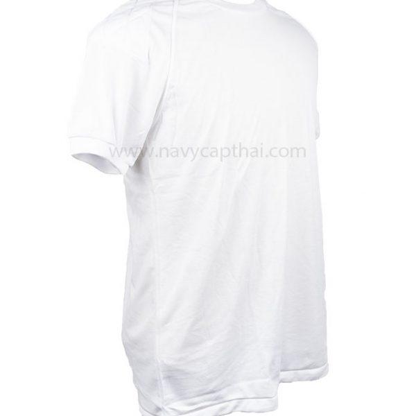 เสื้อยืดบุไหล่แขนสั้นสีขาว