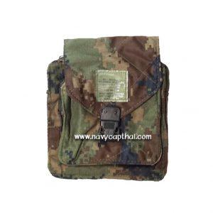 กระเป๋าสี่เหลี่ยมร้อยเข็มขัดลายพรางดิจิตอล ทร