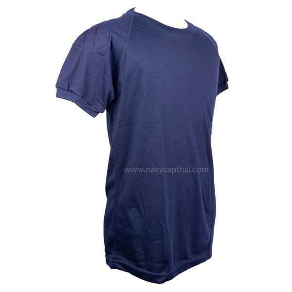 เสื้อยืดบุไหล่แขนสั้นกรมท่า