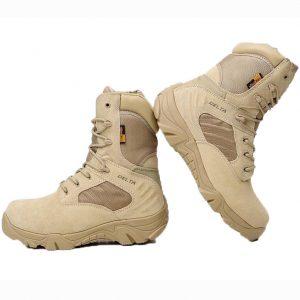 รองเท้า DEALTA ข้อยาวสีทราย