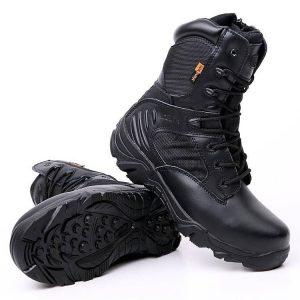 รองเท้า DELTA ข้อยาวสีดำ