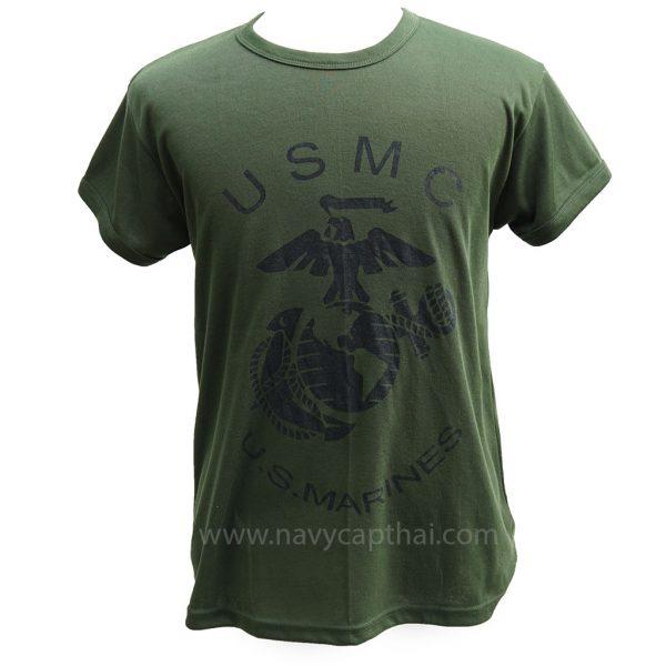 เสื้อยืด US MARINES สีเขียว