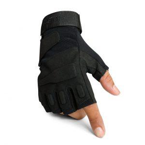 ถุงมือ BLACKHAWK ครึ่งนิ้วสีดำ