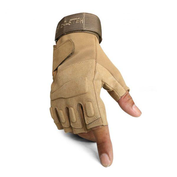 ถุงมือ BLACKHAWK ครึ่งนิ้วสีทราย