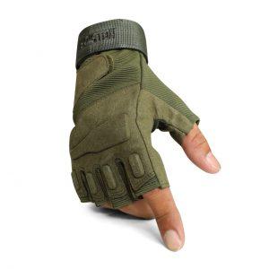 ถุงมือ BLACKHAWK ครึ่งนิ้วสีเขียว