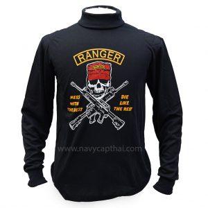 เสื้อยืด RANGER สีดำแขนยาว