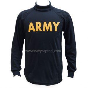 เสื้อยืด ARMY แขนยาวสีดำ