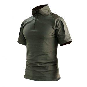 เสื้อ BATTLE SHIRT แขนสั้นสีเขียว