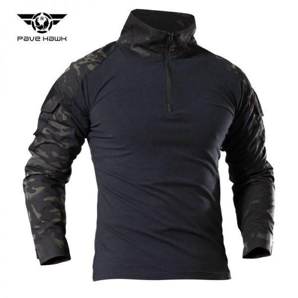 เสื้อ COMBAT SHIRT แขนยาวพรางดำ
