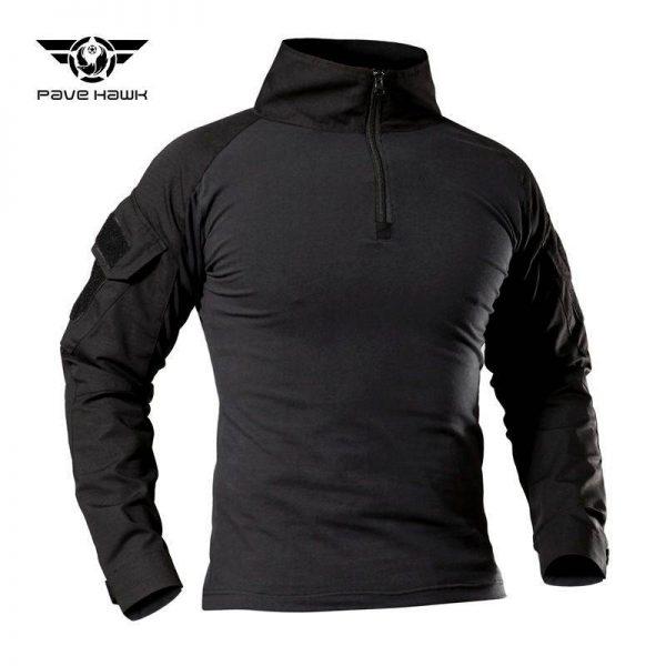เสื้อ COMBAT SHIRT แขนยาวสีดำ