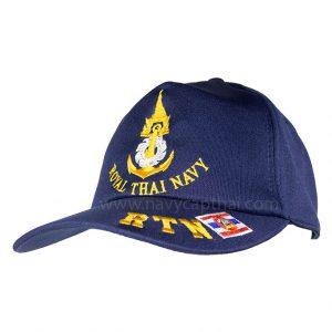 หมวกแก๊ปกองทัพเรือปัก RTN
