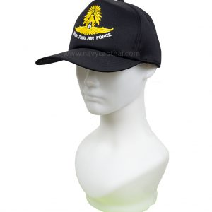 หมวกแก๊ปปักกองทัพอากาศสีดำ