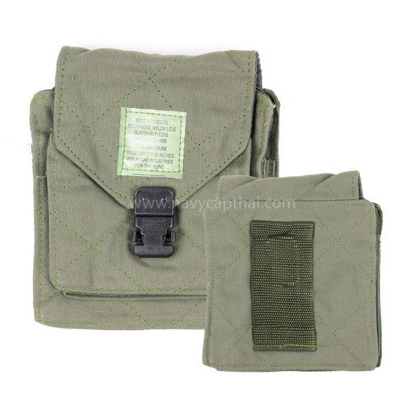 กระเป๋าสี่เหลี่ยมร้อยเข็มขัดสีขี้ม้า