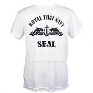 เสื้อยืดสกรีน SEAL สีขาว