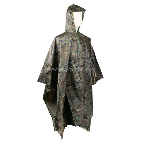 เสื้อกันฝนปันโจลายพรางดิจิตอล